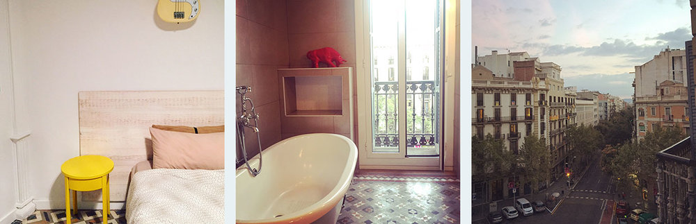 My stunning Airbnb apartment in Barcelona, on Carrer del Bruc in the Eixample neighbourhood.