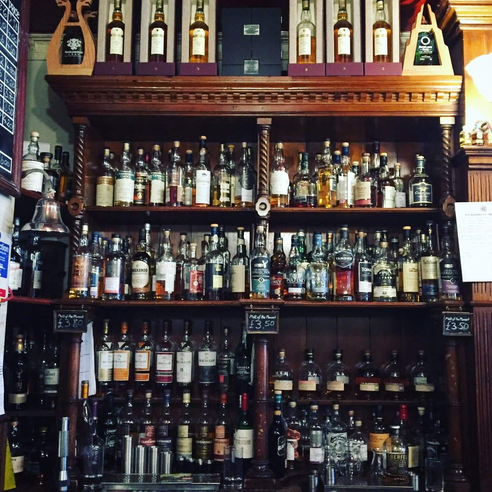 Bow Bar Whiskey selection. 371 varieties and counting :)