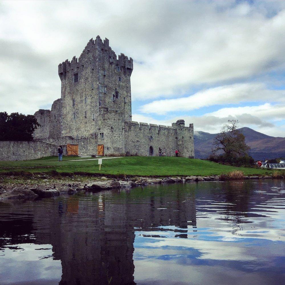 Beautiful Ross Castle in Killarney National Park