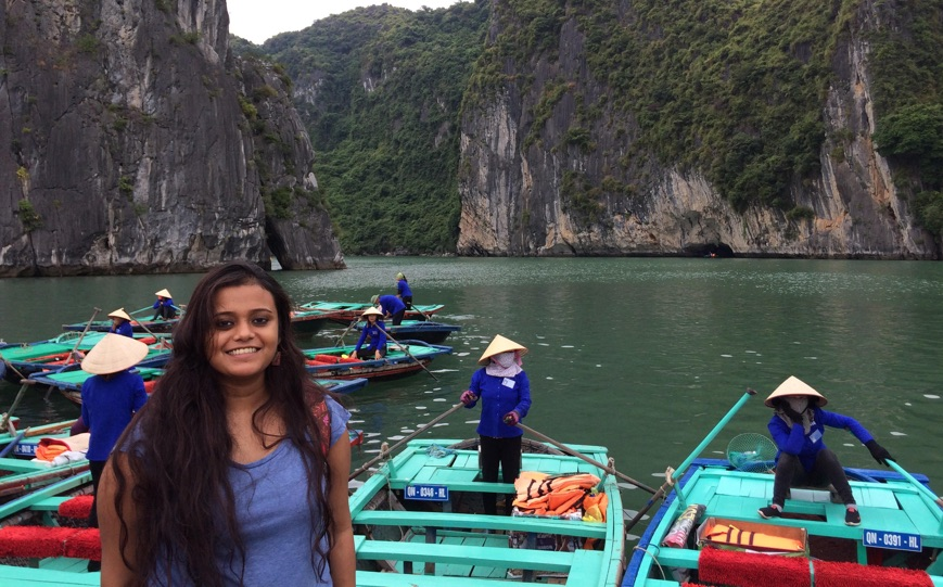 In Ha Long Bay, Vietnam