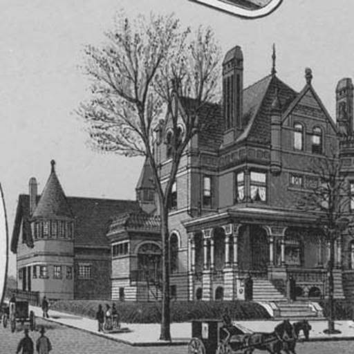 These illustrations of the W.H. Jones Mansion are from the digital archives at the  Columbus Library .