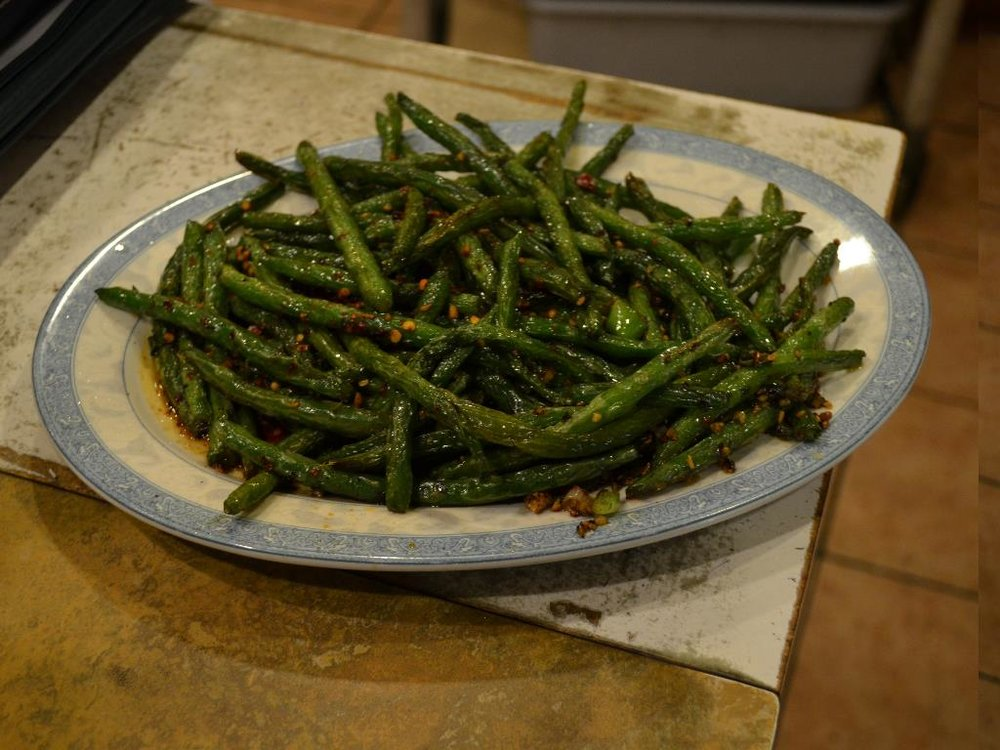 Dried Cooked Green Beans    干煸四季豆