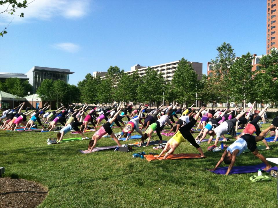 Sunday morning Yoga at Pierce's Park