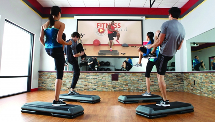 Stream fitness classes onsite for enhanced engagement - Host free group fitness classes onsite using our custom designed streaming A/V solution. This includes our social booking app with its community of #freefitness classes.