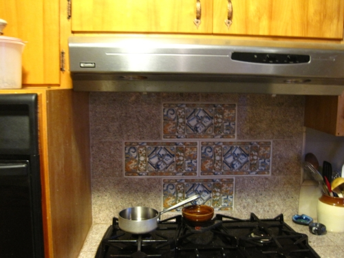 BEFORE: They were not loving this patterned tile