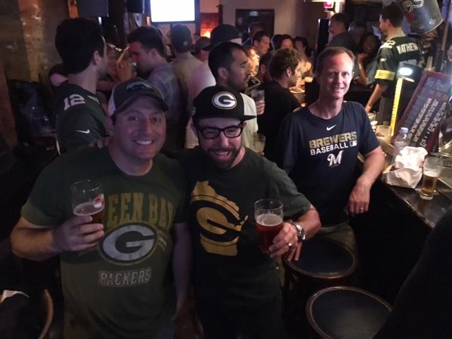 Enjoying the game at WOS Bar