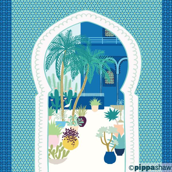 Pippa Shaw - Majorelle doorway