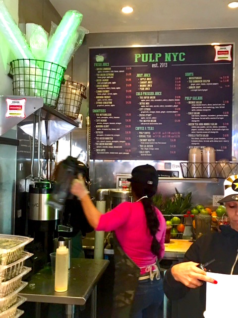 PULP JUICE & KITCHEN is New York City's best place for carefully crafted cold pressed juices, fresh smoothies and healthy vegan food.