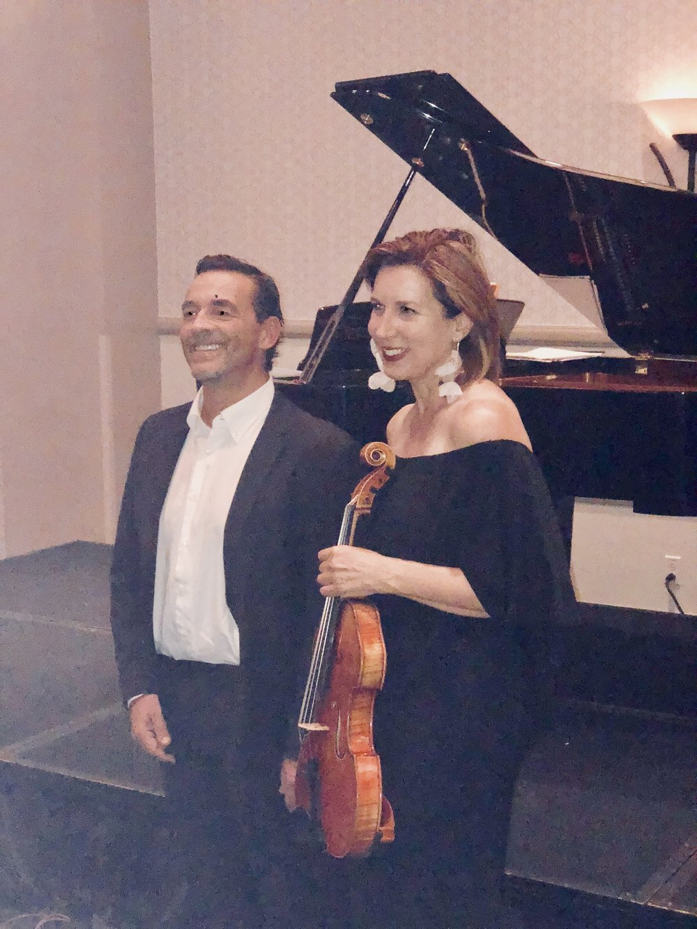 Florida - On July 21, 2018, Kate was invited to be the featured guest artist at the 2018 Delta Omicron International Convention in Orlando, Florida.Pictured are Kate and collaborator, pianist Ferruccio Amelotti (Milan, Italy).