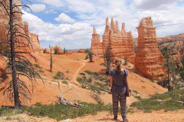 Hiking deep into Bryce Canyon, Utah