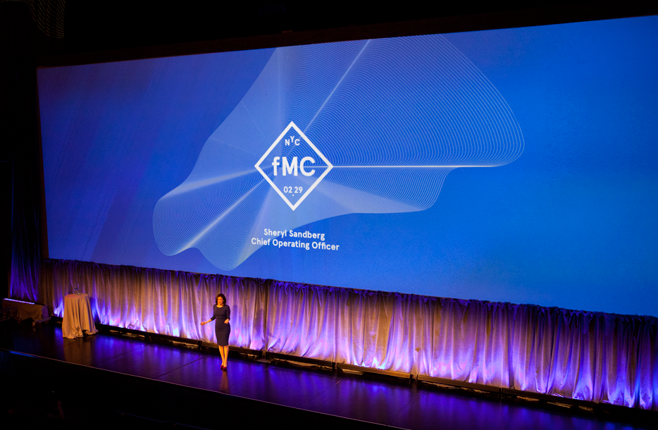 Sheryl Sandberg kicking off the inaugural fMC conference