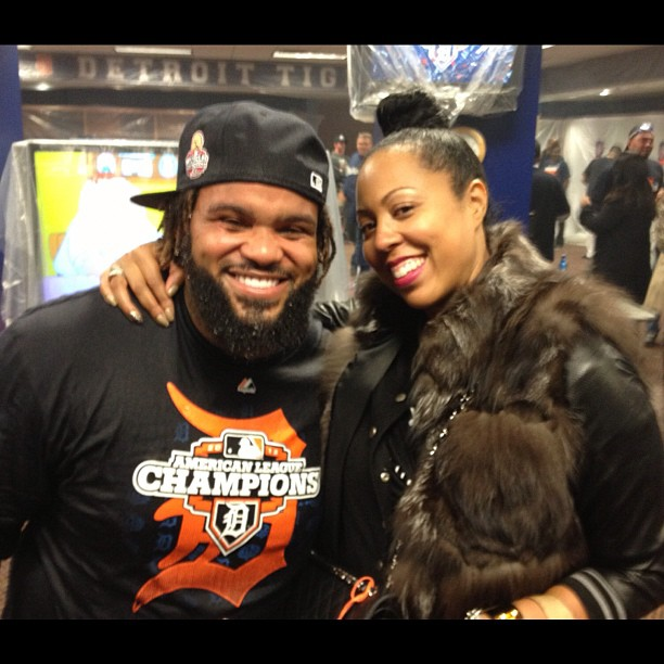 Paige Geran  with client  Prince Fielder -  Locker Room Celebration