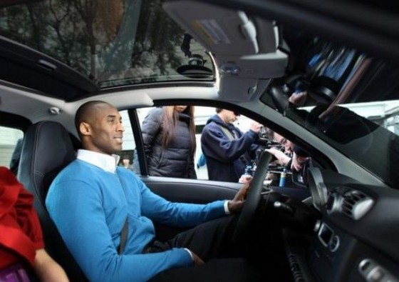 Kobe Bryant  - Behind the scenes of  Smart Car  commercial shoot (China)