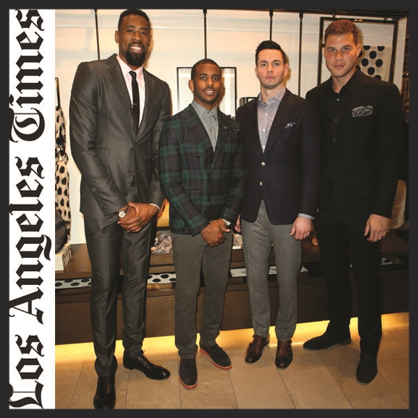 "L.A. Times  - ""L.A. Clippers step out in style to Burberry runway screening"""