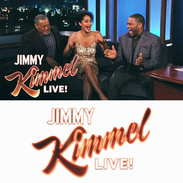 Anthony Anderson  with cast mates -  Jimmy Kimmel Live!