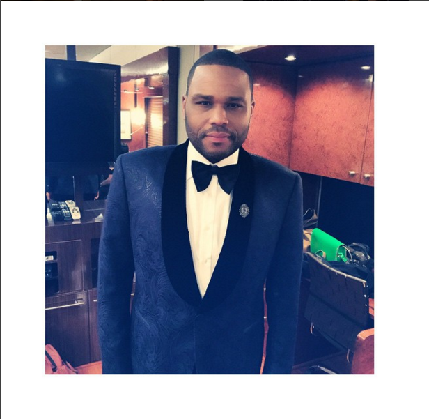 Anthony Anderson - backstage at NAACP Image Awards