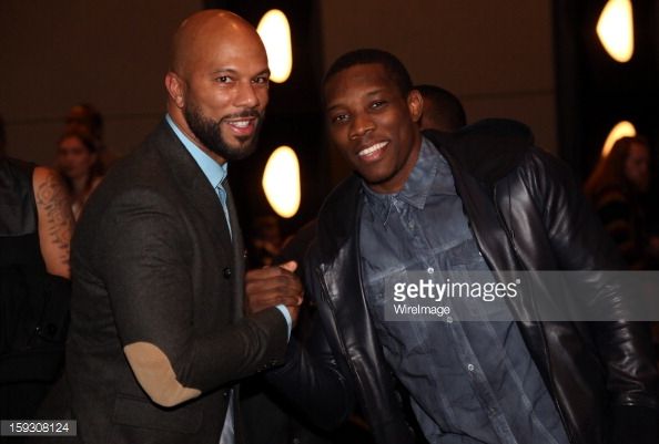 Eric Bledsoe  with Common -  LUV  movie premiere in L.A.