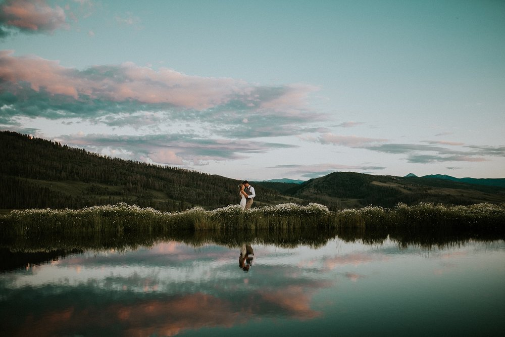 Colin + Lindsay Granby Colorado View