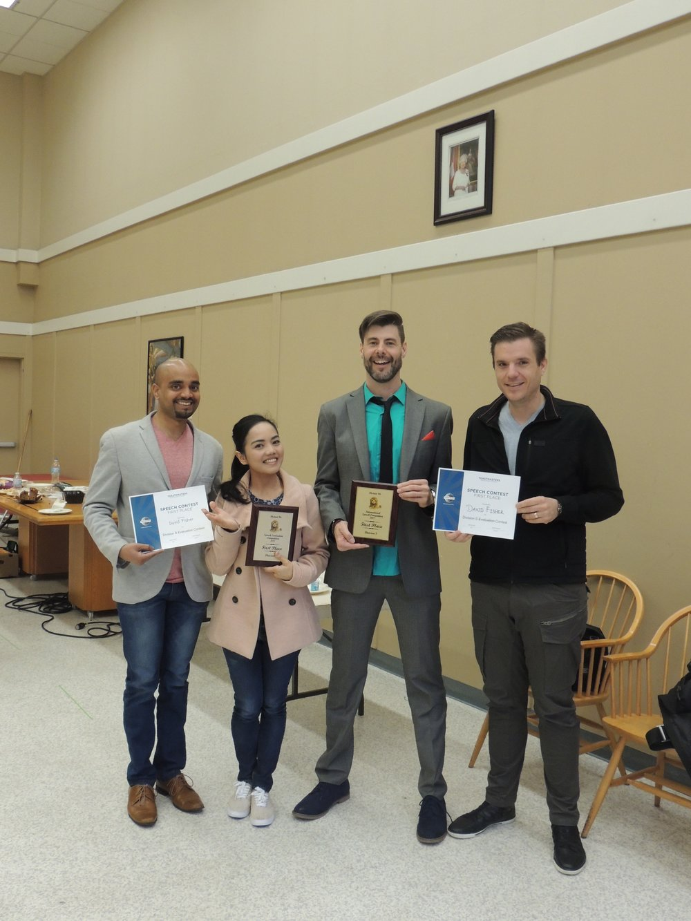 Double Win - Toastmasters Division Winner in both the International Speech Contest and the Evaluation Contest