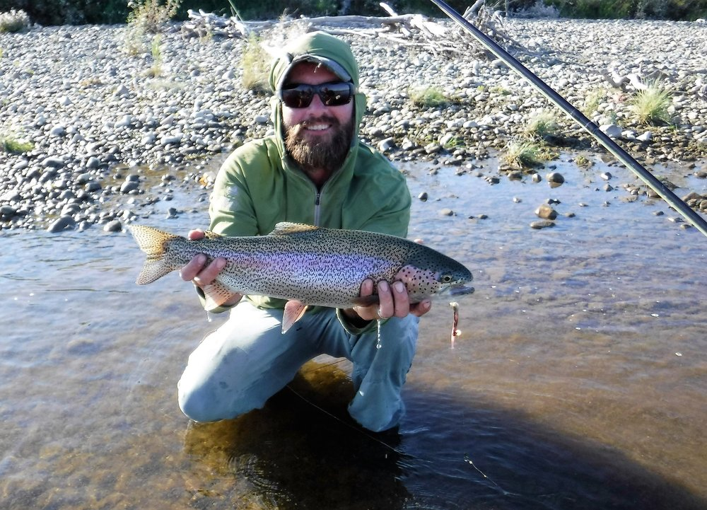 Fishing for big rainbows on the Arolik River in Alaska