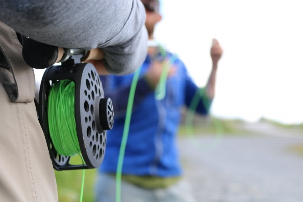 FishHound Expeditions guides start every trip with a fly fishing demonstration