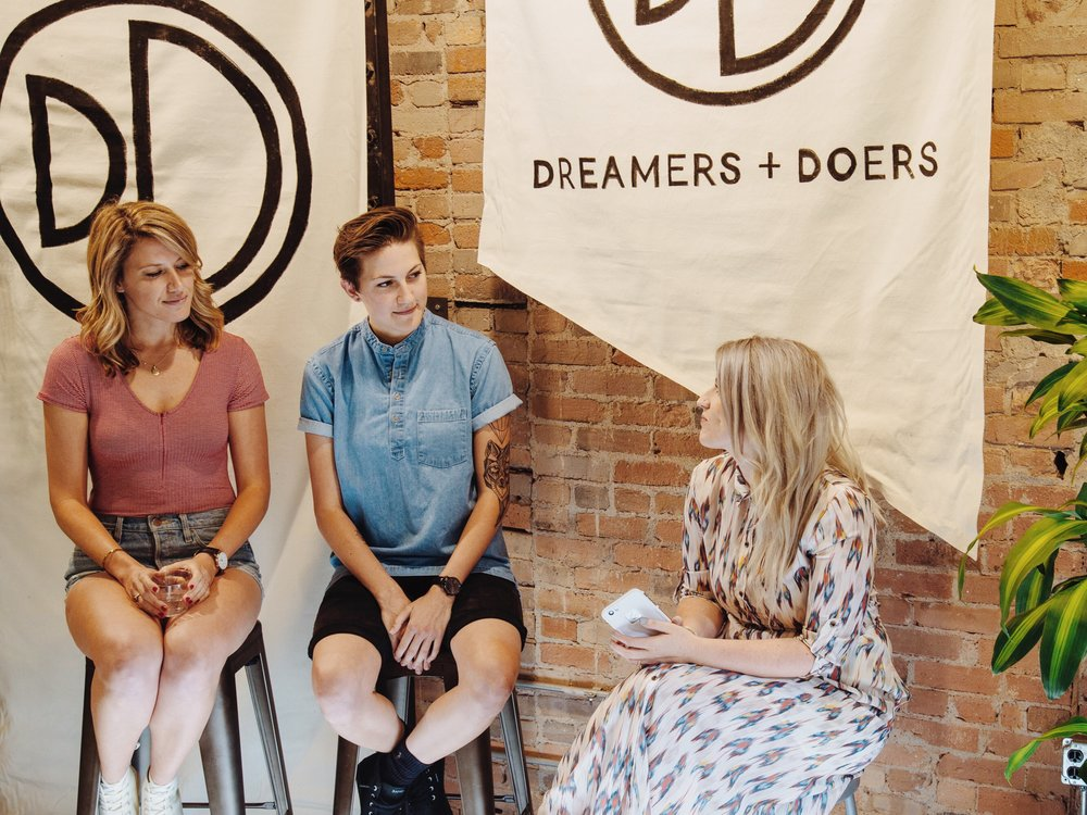 Urban Outfitters: Dreamers + Doers with BANGS Shoes & Christina Forêt of Asheville Folk. Photo by Savannah Devore.
