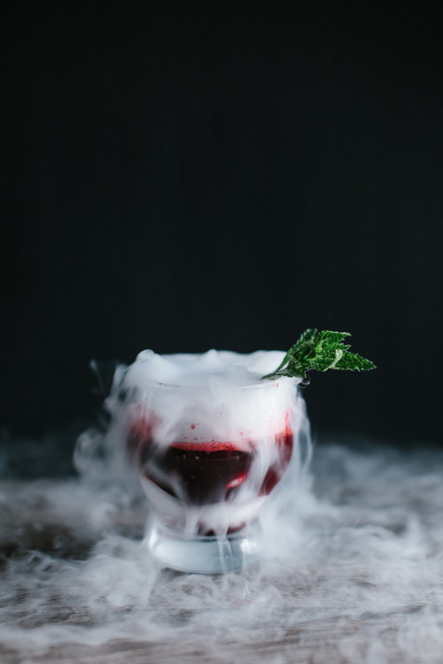 Halloween Cocktail Recipe: Blackberry + Whiskey. Photo by Christina Foret.