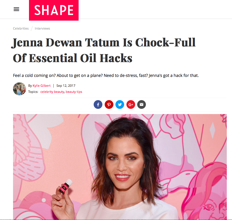 How Jenna Dewan Tatum Uses Her Essential Oils via SHAPE Magazine