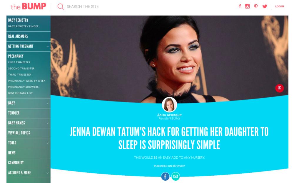 How Jenna Dewan Tatum Gets Her Daughter to Sleep via the BUMP