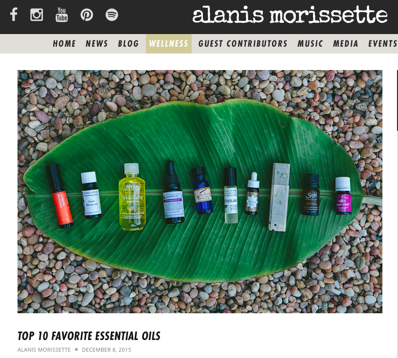 Alanis Morissette's Favorite Oils: Young Living's Inner Child
