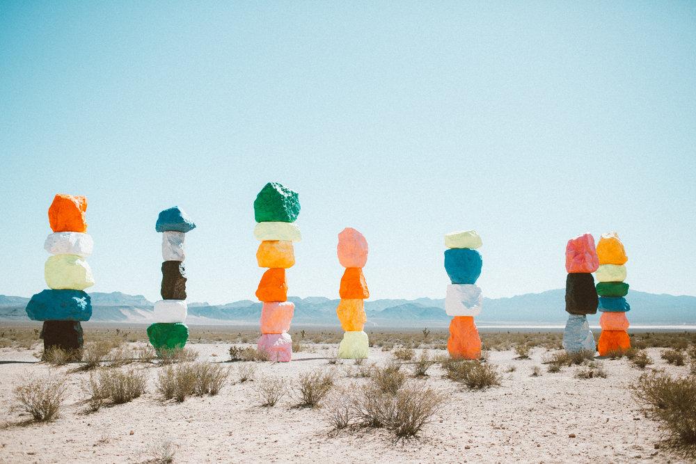 Christina Foret - Lifestyle Blogger - Seven Magic Mountains Las Vegas Nevada-2.jpg