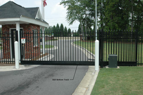 International Gate Devices Aluminum Bottom Track Gate System.