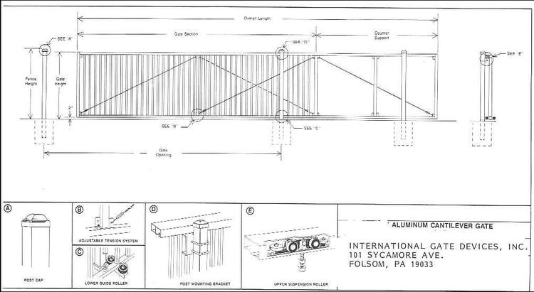 sliding gate plans free. Ornamental Aluminum Gate jpg International Devices