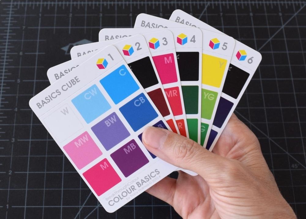 6 Colour Cube Cards