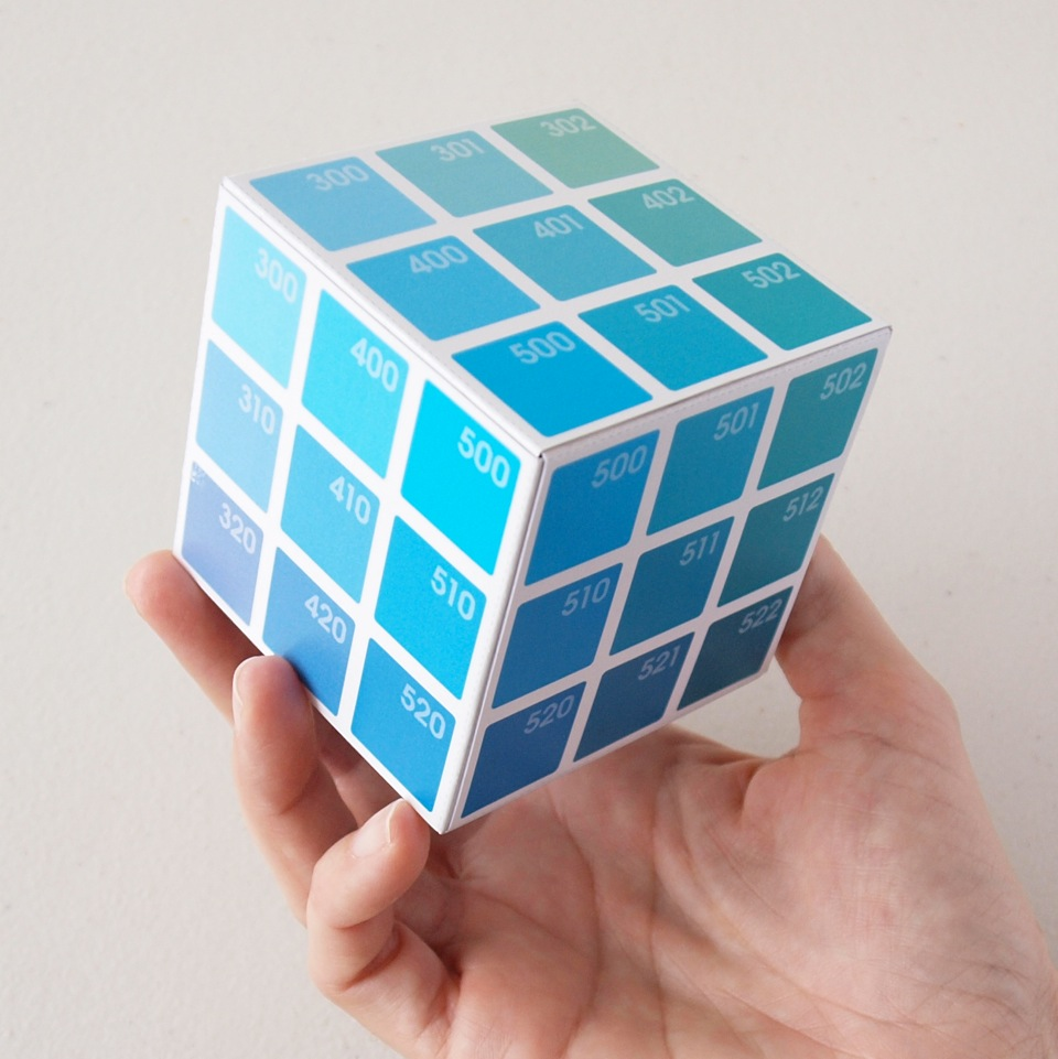 the completed Cyan Corner Cube