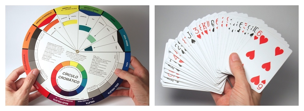 traditional wheel of colour, traditional deck of cards
