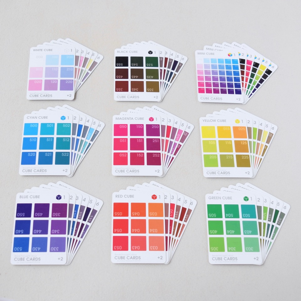 BTC  Cube Cards  Colour is 3-dimensional, and so is BTC. Complement your Colour Card collection with DIY Cube Cards