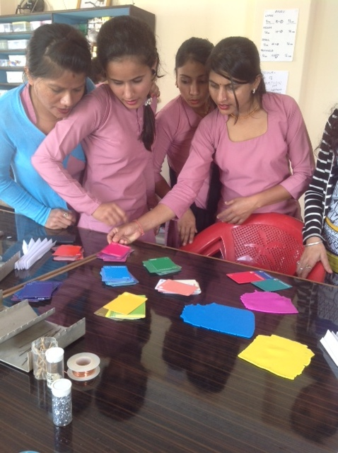 Exploring Hue, the women learn about the 'major' Corner Colours