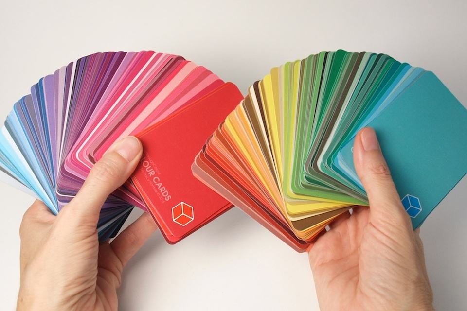 BreakThroughColour  Colour Cards   |  a full-spectrum collection of 216 different Hues, Tints, Shades, and Tones