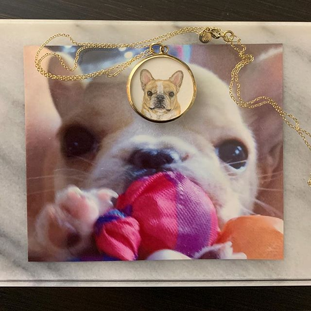 @foxandbond thank you so much for this beautiful hand painted pet portrait in memory of chlo. i adore it 💕 . please sign + share the #petsarefamilynotproperty pledge: aldf.org/animalsnotproperty (link also in bio)