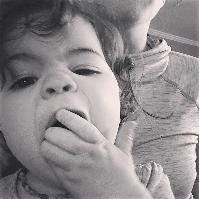 This is what shoving 23 Blueberries into your mouth at once looks like 🙈 As much as I try and help her pace herself, she likes to double fist crackers, eggs, pasta, ANYTHING in front of her.  You win some, you lose some... #hotyoungwidowsclub #widowsofinstagram #widowlife