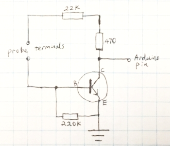Figure 5: Water probe circuit