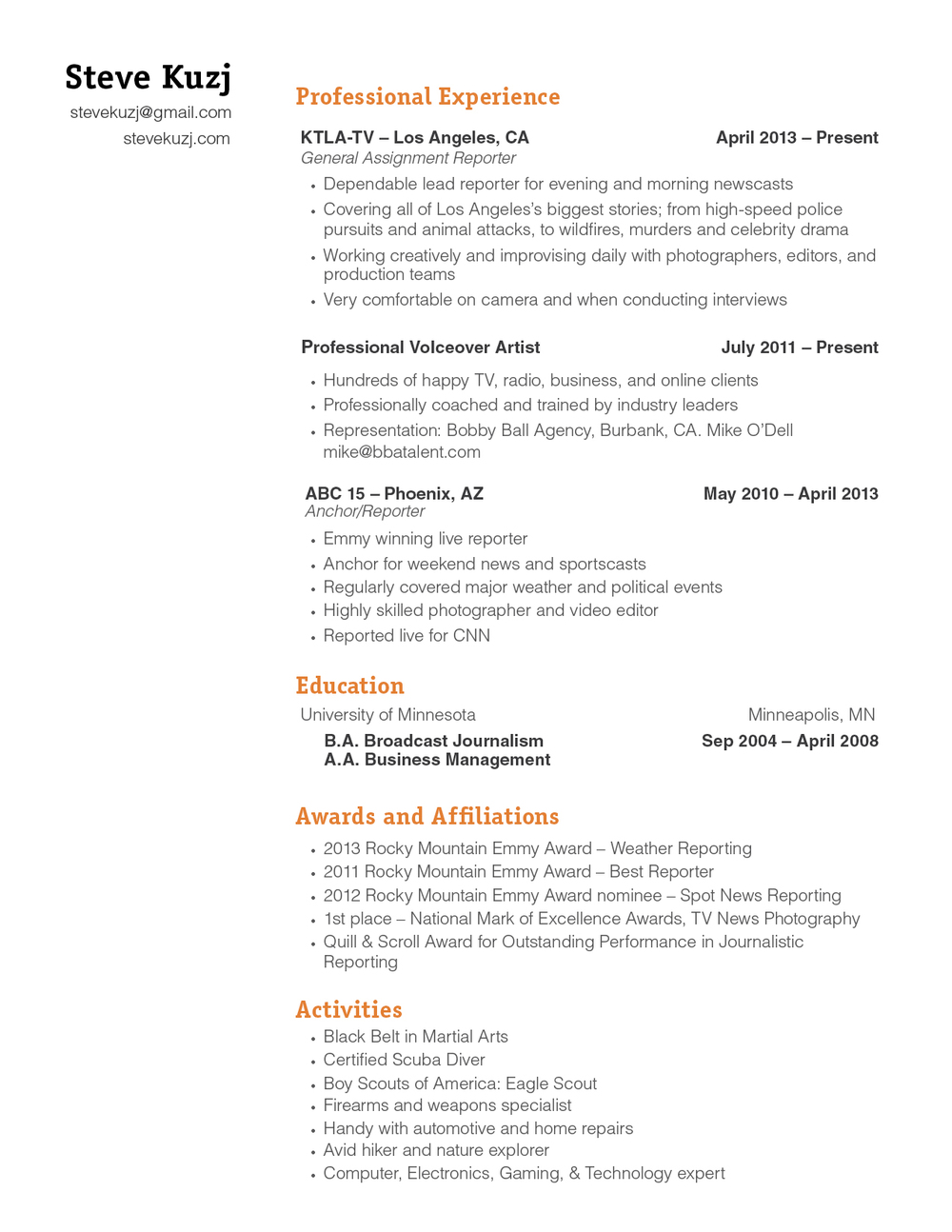 Radio Host Resume Claims Adjuster Sample Template