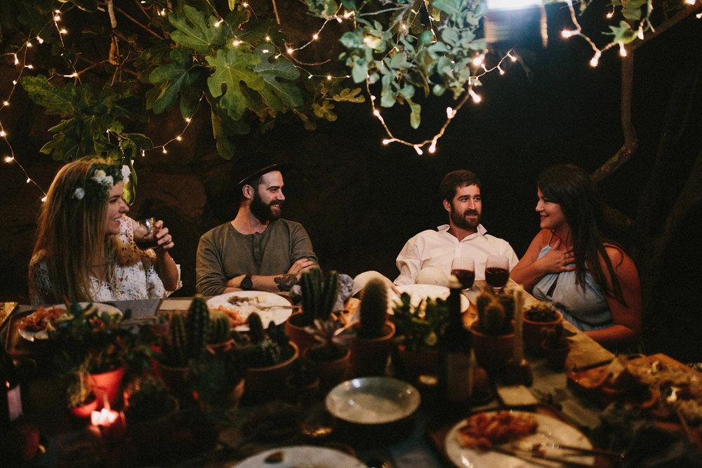 cactus wedding dinner tables