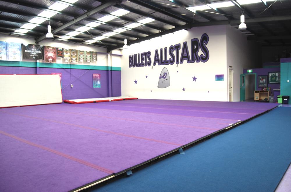 Mathis Dance Studios acrobatic flooring