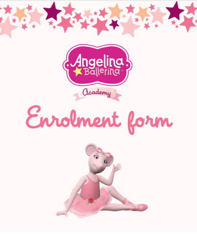 Angelina Ballerina ballet classes enrolment form Mathis Dance Studios Melbourne