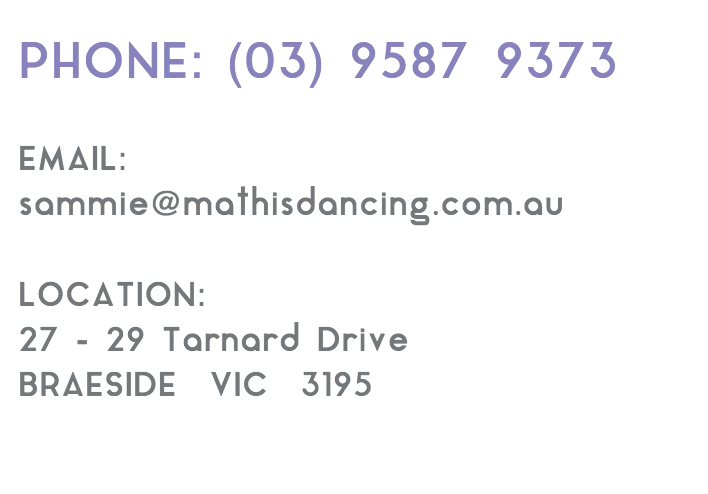 Mathis Dance Studios contact information