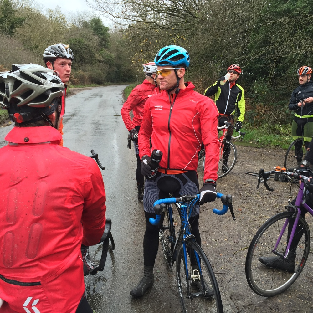Puncture stop near Christmas Common.
