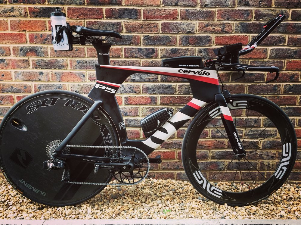 2014 Cervelo P5 three. It's a UCI compliant frame. Think that's the only bit that is compliant with this set up....