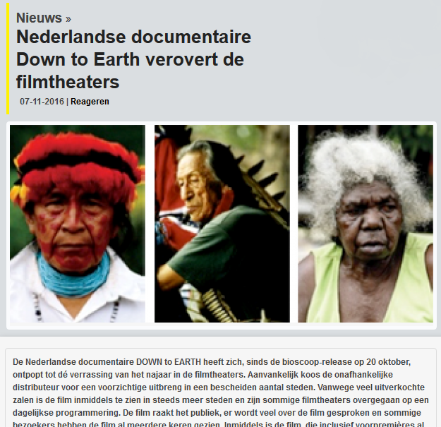 Nederlandse Beroepsvereniging voor film- en televisiemakers (online), 7 nov 2016